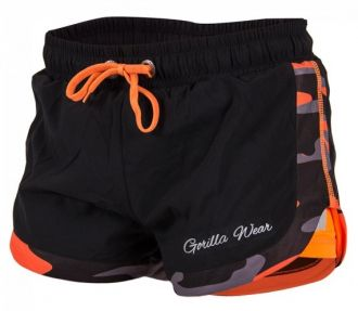 GORILLA WEAR Denver Shorts Black/Neon Orange