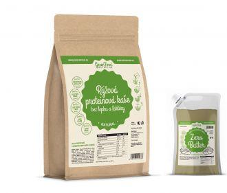 GreenFood Nutrition Reis Protein Brei Glutenfreie und Laktosefreie LOW CARB