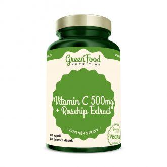 GreenFood Nutrition Vitamin C + Hagebuttenextrakt vegan Caps