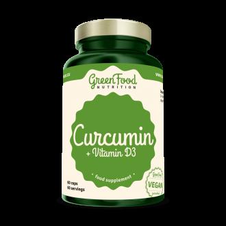 GreenFood Curcumin + Vitamin D3 60 vegan caps
