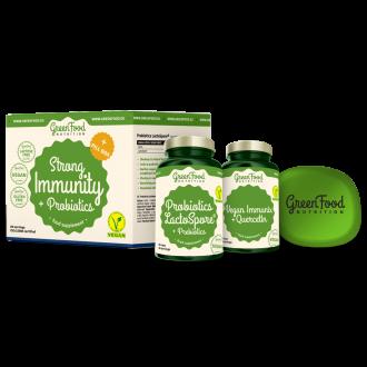 GreenFood Nutrition Strong Immunity & Probiotics + Pillbox