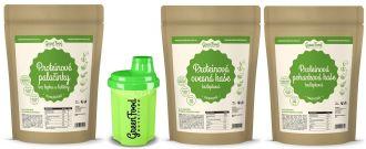 GreenFood Nutrition Protein Frühstück  glutenfreie LOW CARB + Shaker