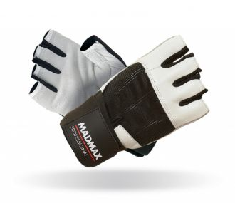 MADMAX Fitness Handschuh PROFESSIONAL WHITE