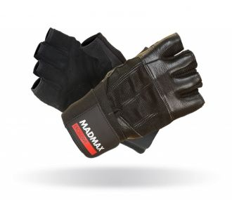 MADMAX Fitness rukavice PROFESSIONAL BLACK