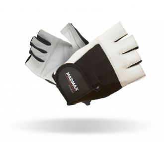MADMAX Fitness Handschuh FITNESS WHITE