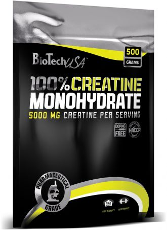 BioTech 100% MICRONIZED CREATINE MONOHYDRATE bag
