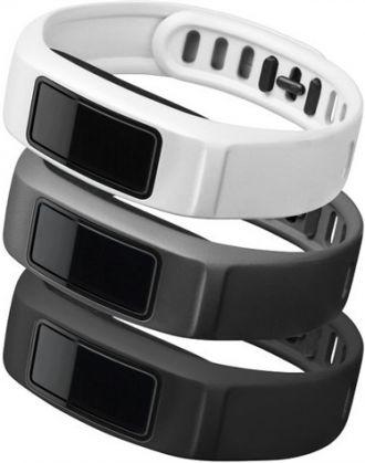 Garmin watchband für vivofit2 black, slate, white 152 - 210mm