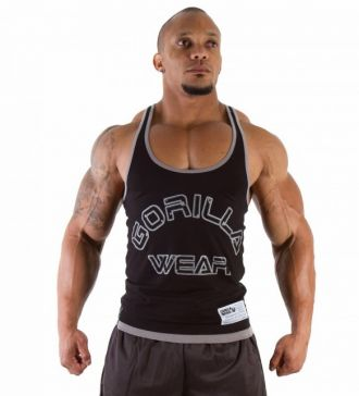GORILLA WEAR Logo Stringer Tank Top Black