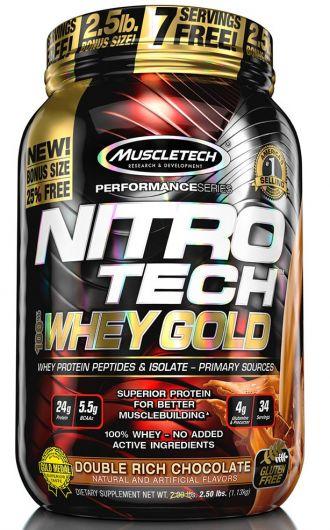 MUSCLETECH NITRO-TECH 100% Whey gold