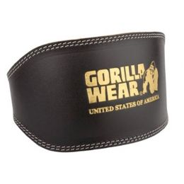GORILLA WEAR Full Leather Padded Belt Black