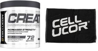 Sicht - CELLUCOR COR-Performance Micronized Creatine + CELLUCOR Towel GRATIS