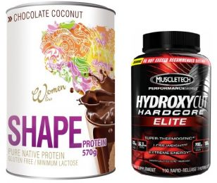 Sicht - PROM-IN SHAPE + MuscleTech HYDROXYCUT Hardocore ELITE