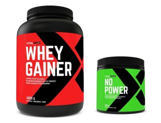 Sicht - Vitalmax WHEY GAINER + Vitalmax NO POWER