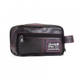 GORILLA WEAR Womens Toiletery Bag Black/Pink